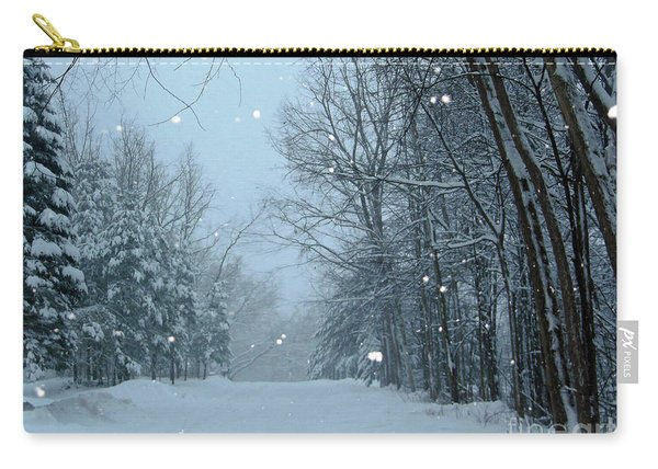 Snowy Street Carry-all Pouch