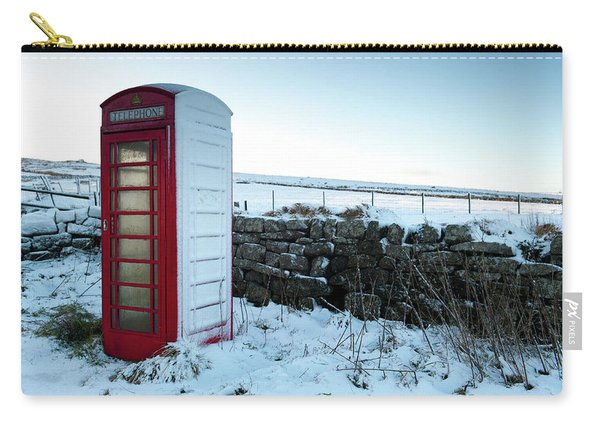 Snowy Telephone Box Carry-all Pouch