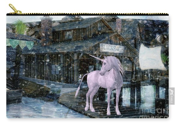 Snowy Unicorn Carry-all Pouch