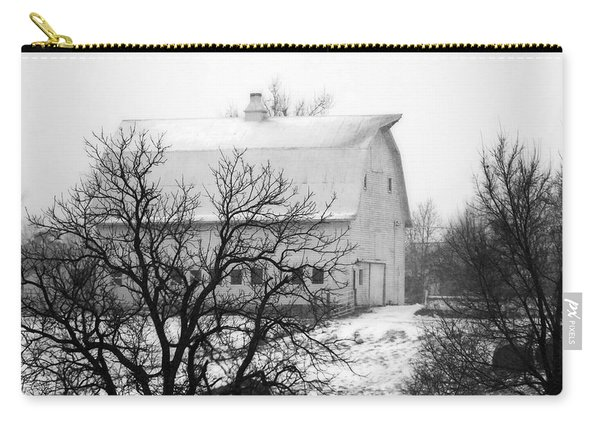 Snowy White Barn Carry-all Pouch