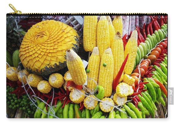 Carry-all Pouch featuring the photograph So, Elephants Eat Red Hot Chile by Mr Photojimsf