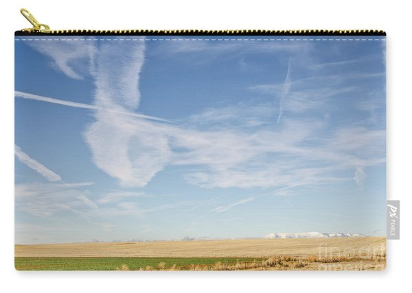 So Many Clouds And Contrails Carry-all Pouch