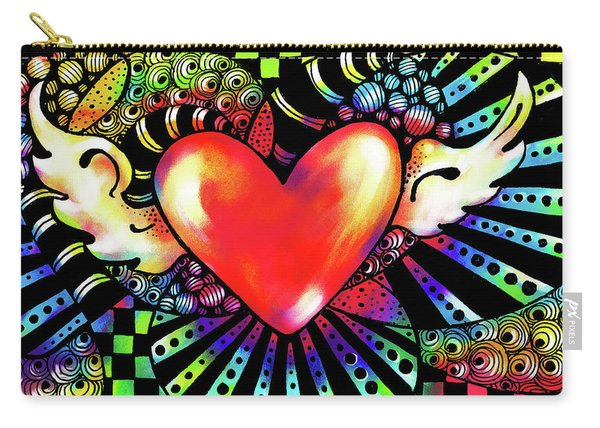 Soaring Heart Coloration Carry-all Pouch