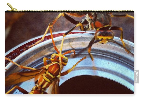 Soda Pop Bandits, Two Wasps On A Pop Can  Carry-all Pouch
