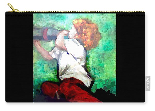 Carry-all Pouch featuring the digital art Soda Pop Child by Deleas Kilgore
