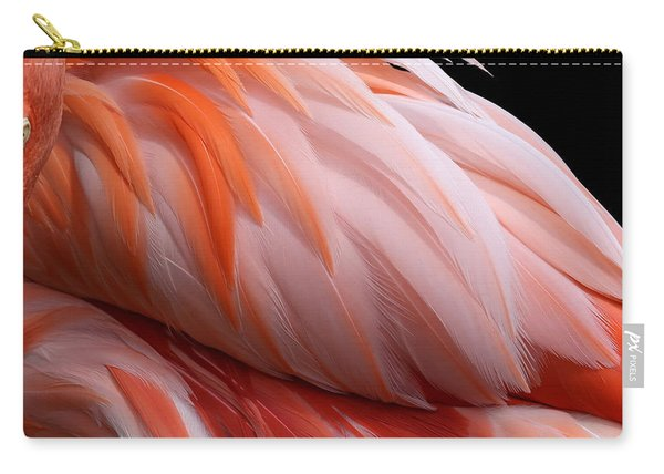 Soft And Delicate Flamingo Feathers Carry-all Pouch