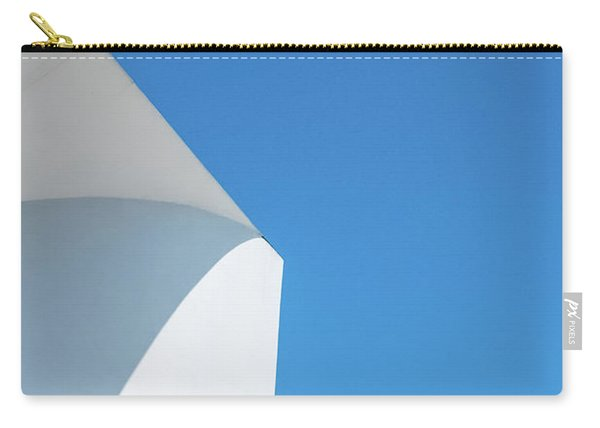 Carry-all Pouch featuring the photograph Soft Blue by Eric Lake