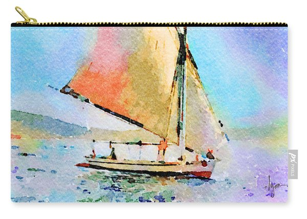 Soft Evening Sail Carry-all Pouch