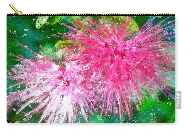 Soft Pink Flower Carry-all Pouch