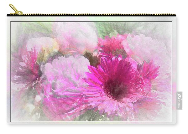 Soft Pink Gerbera Carry-all Pouch