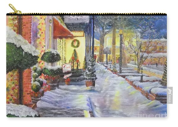 Soft Snowfall In Dahlonega Georgia An Old Fashioned Christmas Carry-all Pouch