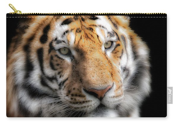 Soft Tiger Portrait Carry-all Pouch