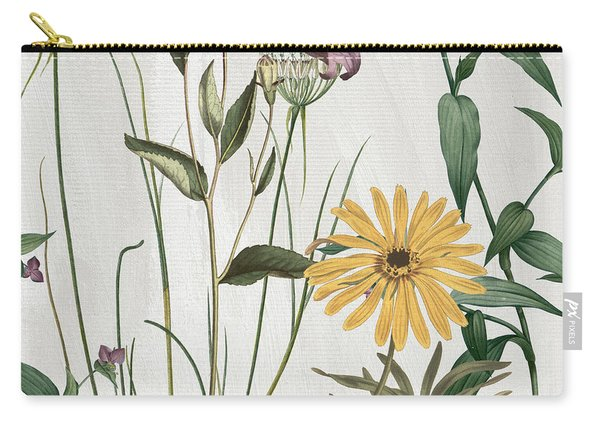 Softly Crocus And Daisy Carry-all Pouch