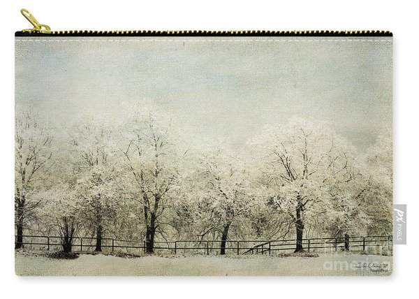 Softly Falling Snow Carry-all Pouch