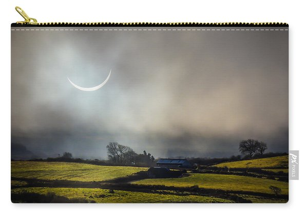Solar Eclipse Over County Clare Countryside Carry-all Pouch