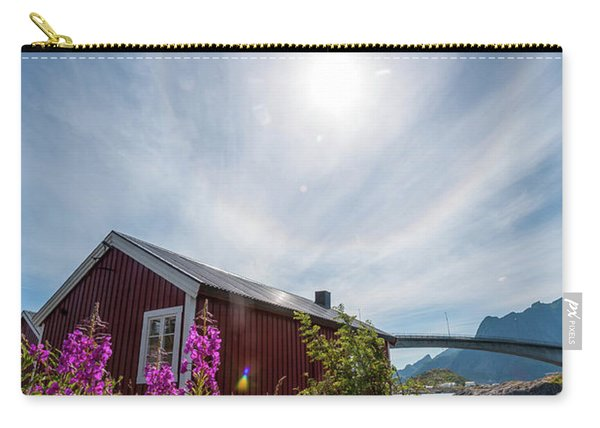 Solar Halo Above Rorbu Carry-all Pouch