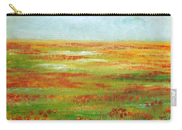 Carry-all Pouch featuring the painting Solarized by Angeles M Pomata