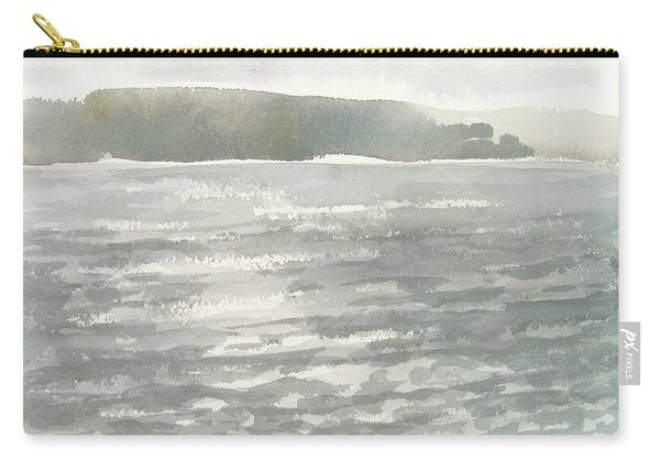 Soldis Over Glittrande Fjord - Sunlit Haze Over Glittering Water_0023 76x48cm Carry-all Pouch