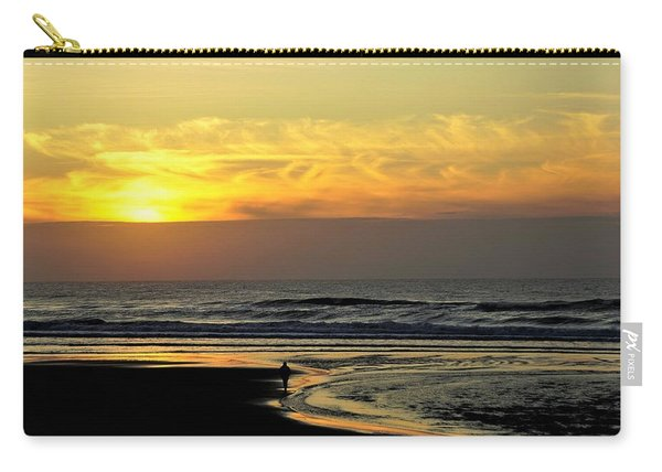 Solo Sunset On The Beach Carry-all Pouch