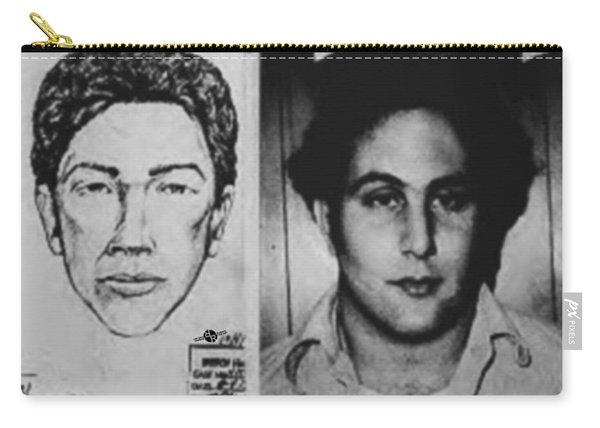 Son Of Sam David Berkowitz Mug Shot And Police Sketch Carry-all Pouch