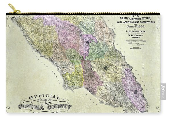 Sonoma County Map 1900 Carry-all Pouch