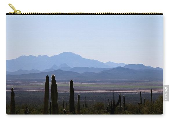 Carry-all Pouch featuring the photograph Sonoran Desert Landscape  by Christy Pooschke