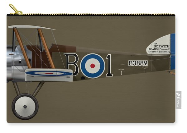 Sopwith Camel - B3889 - Side Profile View Carry-all Pouch