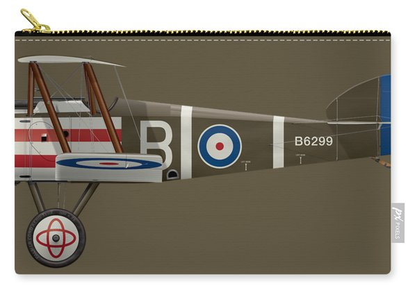 Sopwith Camel - B6299 - Side Profile View Carry-all Pouch
