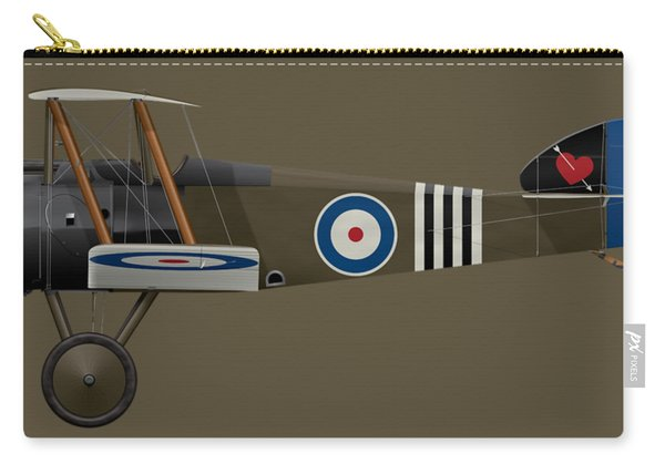 Sopwith Camel - B6313 June 1918 - Side Profile View Carry-all Pouch