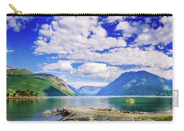 Carry-all Pouch featuring the photograph Soreimsfjorden by Dmytro Korol
