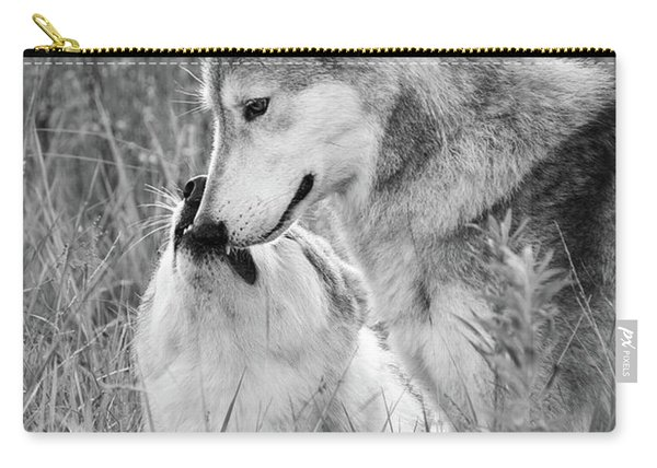 Soul Mates Black And White Carry-all Pouch