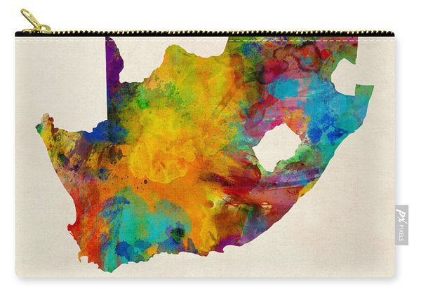 South Africa Watercolor Map Carry-all Pouch
