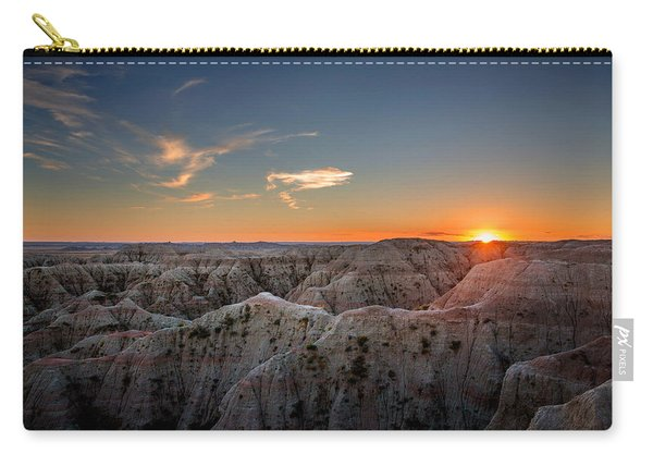 South Dakota Sunset - Evening In The Badlands Of South Dakota Carry-all Pouch