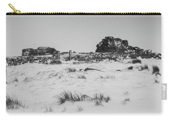 South Hessary Tor In The Snow Carry-all Pouch