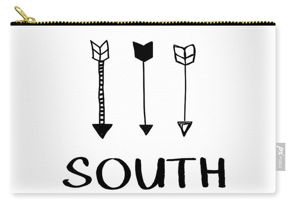 South With Arrows- Art By Linda Woods Carry-all Pouch