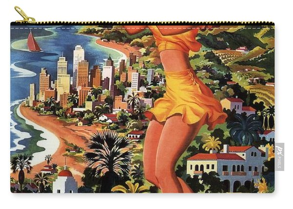 Southern California - United Air Lines - Retro Travel Poster - Vintage Poster Carry-all Pouch