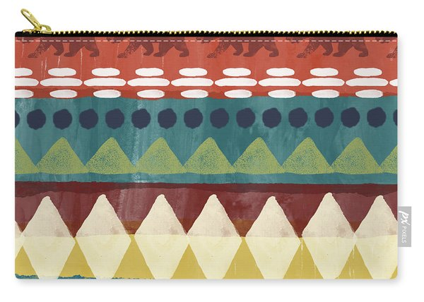 Southwest With Bears- Art By Linda Woods Carry-all Pouch