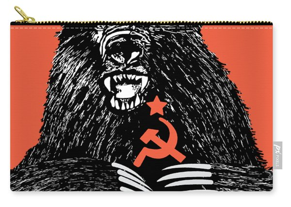 Soviet Threat - Usaf Opsec Vintage 80's Print Carry-all Pouch
