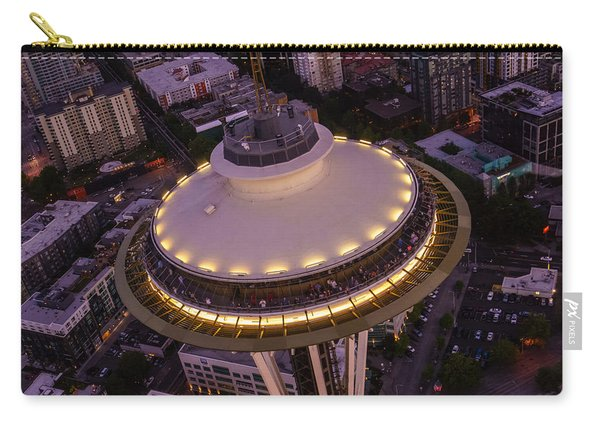 Space Needle Flyover Dusk Carry-all Pouch