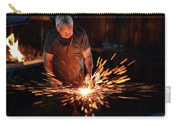 Sparks When Blacksmith Hit Hot Iron Carry-all Pouch