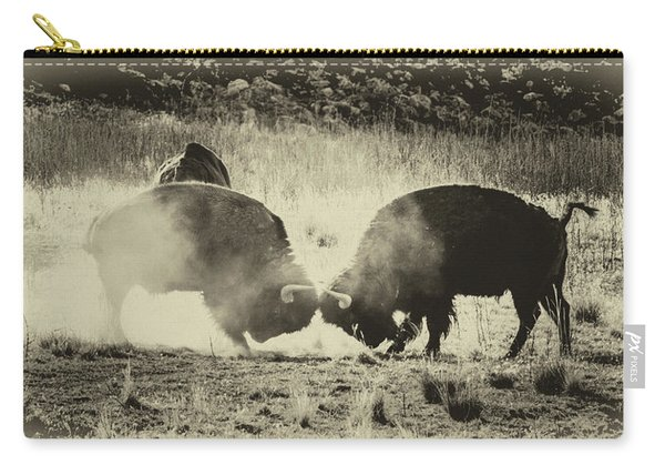 Sparring Partners - American Bison Carry-all Pouch