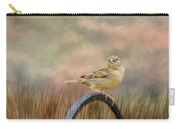 Sparrow In The Grass Carry-all Pouch
