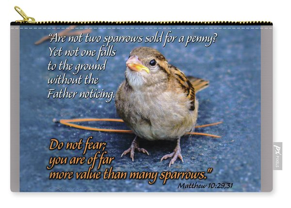 Sparrow Scripture Matthew 10 Carry-all Pouch