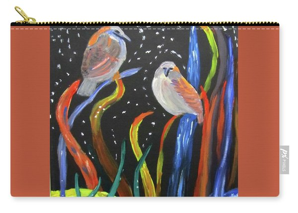 Sparrows Inspired By Chihuly Carry-all Pouch