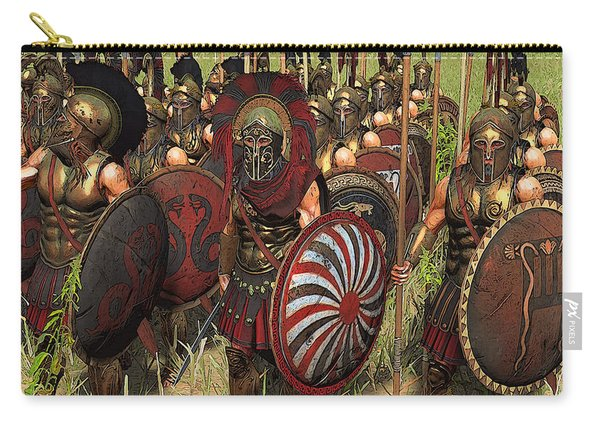 Spartan Warriors Before The Battle Carry-all Pouch