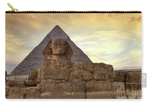 Sphinx And Pyramid At Dusk Carry-all Pouch