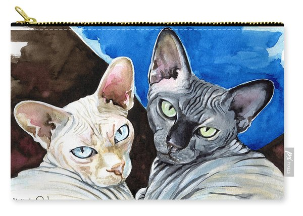 Sphynx Love - Cat Painting Carry-all Pouch