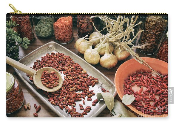 Spices And Herbs Carry-all Pouch
