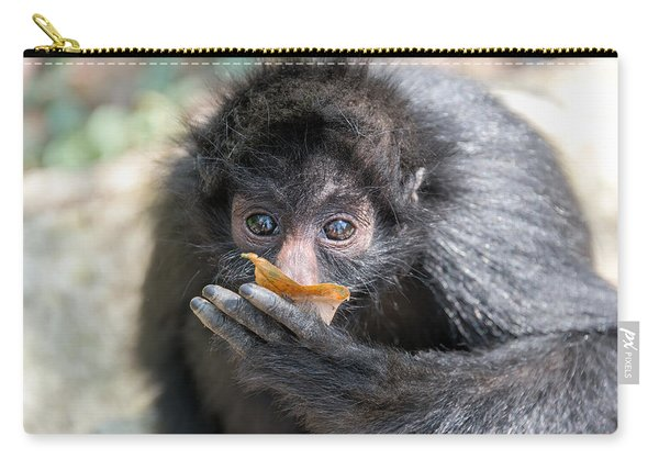 Spider Monkey And Leaf Carry-all Pouch