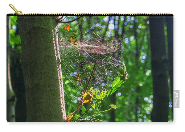 Spider Web In A Forest Carry-all Pouch